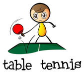 A stickman playing table tennis — Vetorial Stock