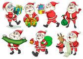Busy Santa — Stock Vector