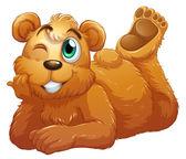 A brown bear — Stock Vector