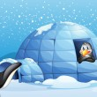 Penguins and igloo — Stock Vector #38831673