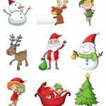 Christmas symbols — Stock Vector