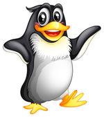 A smiling fat penguin — Stock Vector