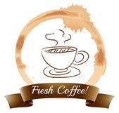 A fresh coffee — Stock Vector