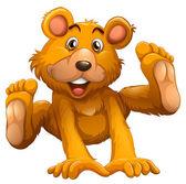 A playful brown bear — Cтоковый вектор