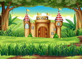 A castle at the forest — Stock Vector