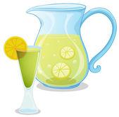 A pitcher of lemonade — Stock Vector