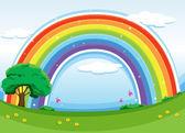 A rainbow in the sky — Stock Vector