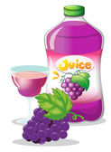 Grape juice — Stock Vector