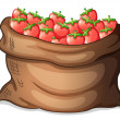 A sack of strawberries — Stock Vector #38877111
