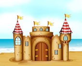 A castle at the beach — Stock Vector