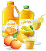 Different juice drinks — Stock Vector