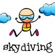 A stickman skydiving — Stock Vector #39025131