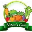Stock Vector: Nature's own label