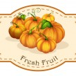 A fresh fruit label with squash — Stock Vector #39487663