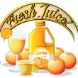 A fresh juice label — Stock Vector