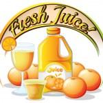 A fresh juice label — Stock Vector