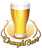 Draught beer label — Stock Vector