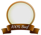 A pure beef label — Stock Vector