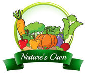 A nature's own label — Stock Vector