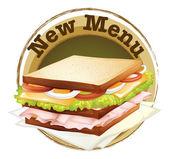 A new menu label — Stock Vector