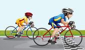 Two bikers racing — Stock Vector