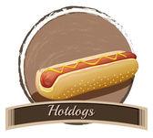 Hotdog label — Stock Vector