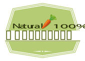 A natural label with a carrot — Stock Vector