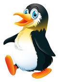 A penguin walking — Stockvektor