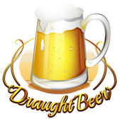 A draught beer label — Stock Vector