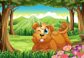 A big bear at the forest — Stock Vector