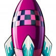 图库矢量图片: Rocket with pointed tip