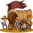 People from the wild West — Stock Vector
