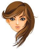 A pretty face of a woman — Stock Vector