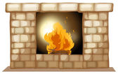 A fireplace — Stock Vector