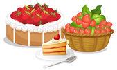 Sweet strawberries — Stock Vector