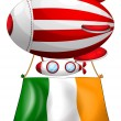 Stock Vector: Stripe-colored balloon with flag of Ireland