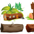 Stock Vector: Different uses of woods