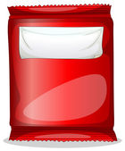A red packet with an empty label — Stock Vector