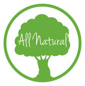 An all natural label — Stock Vector