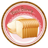 A best bakery label with a loaf of bread — Stock Vector