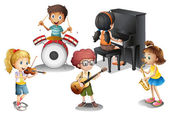 A group of talented kids — Stock Vector