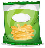 A pack of crispy french fries — Vector de stock