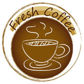 A fresh coffee label — Stock Vector