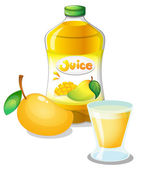 Mango juice drink — Stock Vector