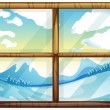 A view of the winter from the window — Stock Vector #40944251