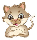 A smiling brown cat — Stock Vector