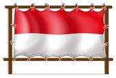 The flag of Monaco — Stock Vector