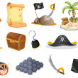 Things related to a pirate — Stock Vector #41474711