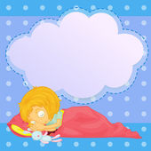 A young girl sleeping with an empty callout — Stock Vector