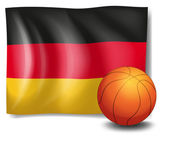 The flag of Germany with a ball — Stock Vector